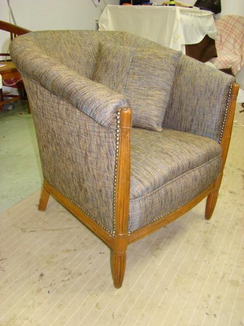 fauteuil art d co tapissier d corateur artisant marie david manche. Black Bedroom Furniture Sets. Home Design Ideas